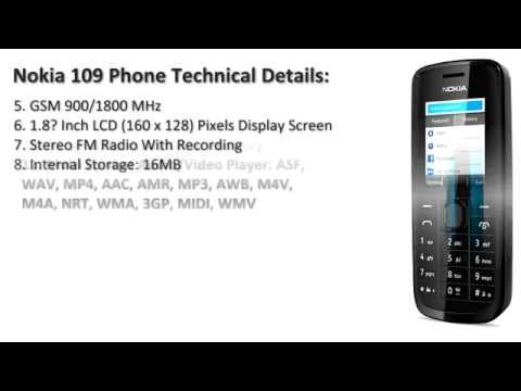 Nokia 109 Mobile Price and Specifications