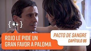 Rojo le pide un gran favor a Paloma   Pacto de Sangre   Capítulo 86