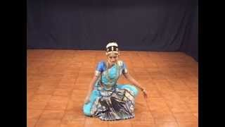 Medha Hari 2008, bharatanatyam dancer, chinna padam
