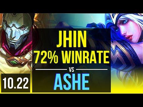 JHIN & Janna vs ASHE & Pantheon (ADC)   72% winrate, 14/2/8, Quadra   KR Grandmaster   v10.22