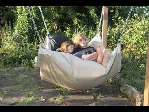 Hammock Chair : Hammock Hanging Chair Air Deluxe Sky Swing Outdoor Chair  Solid Wood
