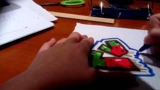 Как рисовать графити (4) (TV)(Как видите вышла 4 видео,не забывайте оценить видео., 2013-01-14T23:11:46.000Z)