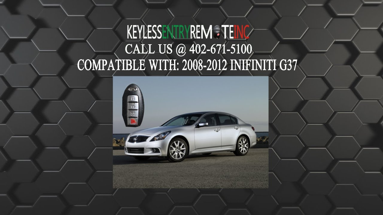 How To Replace An Infiniti G37 Key Fob Battery 2008 2012