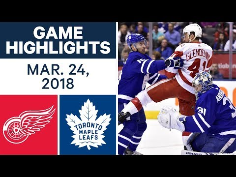 NHL Game Highlights | Red Wings vs. Maple Leafs - Mar. 24, 2018