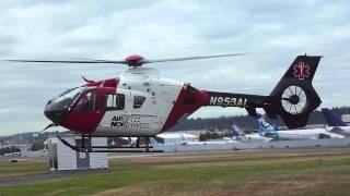 Eurocopter EC135 Helicopter landing at KBFI Seattle