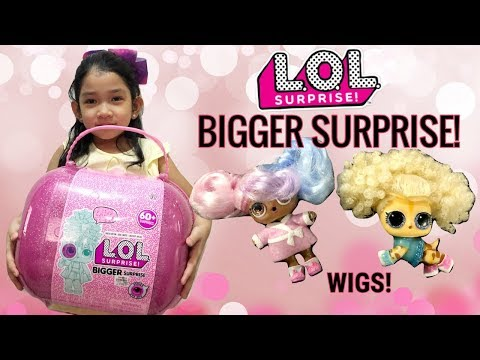 lol-bigger-surprise-full-unboxing!-is-it-worth-it?-lol-wigs,-masks-&-limited-edition-dolls