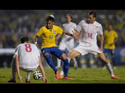 Brazil Vs Serbia (1-0) Highlights & Goals |HD| - Friendly Match 06/06/2014