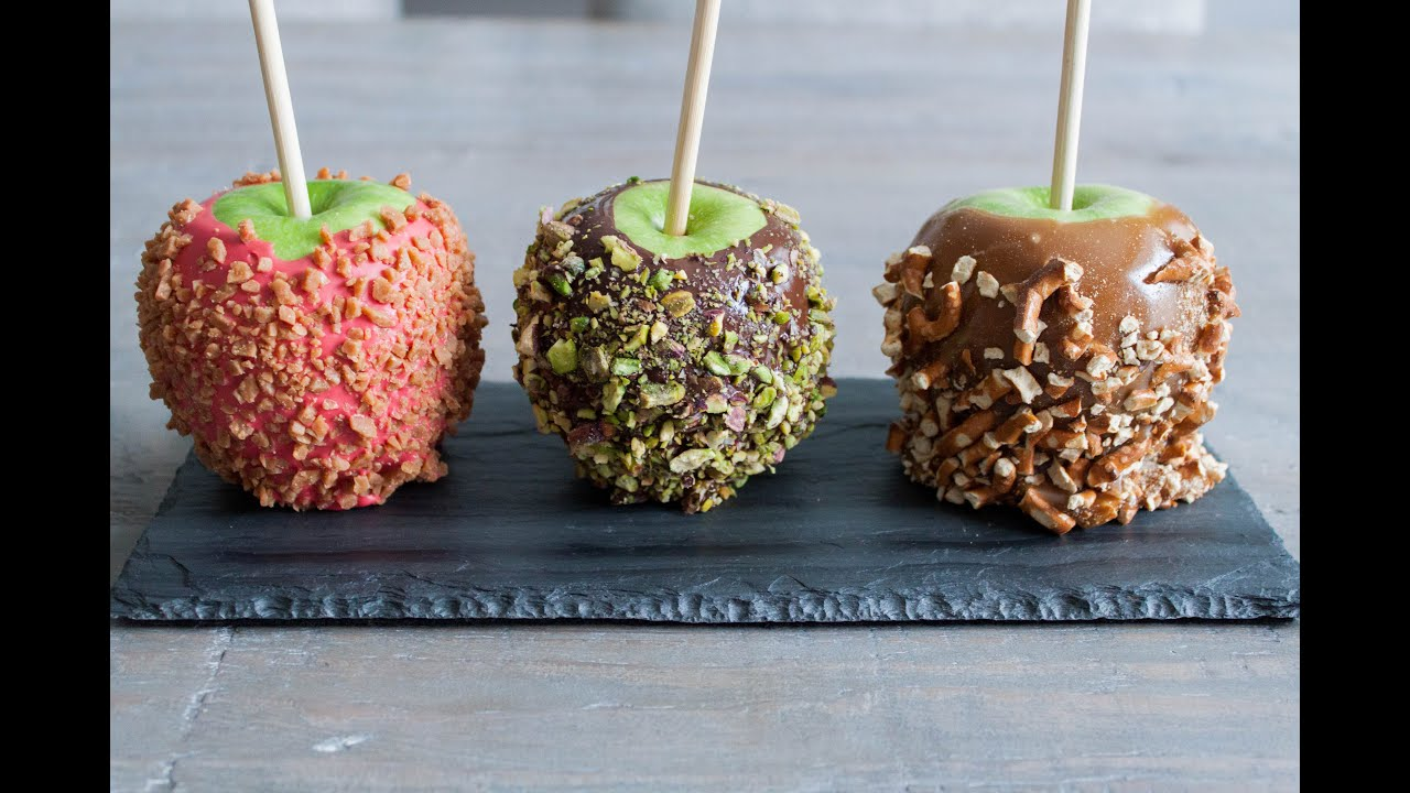 How to make shiny chocolate candy apples