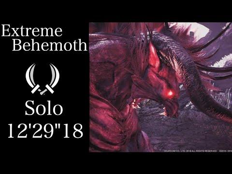 """【MHWI】極ベヒーモス 双剣ソロ 12'29""""18 / Extreme Behemoth Dual Blades Solo"""