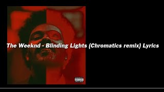 The lyrics blinding weeknd lights