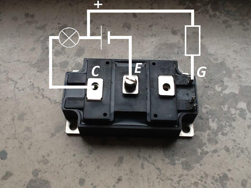 Testing IGBT brick | Test tranzystora IGBT