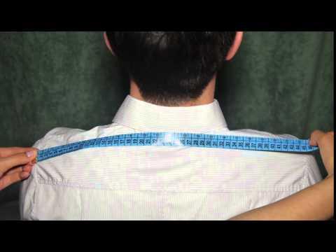 Замер ширины плеч