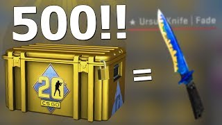 i opened 500 new CS20 cases and you'll be shocked what i actually got!