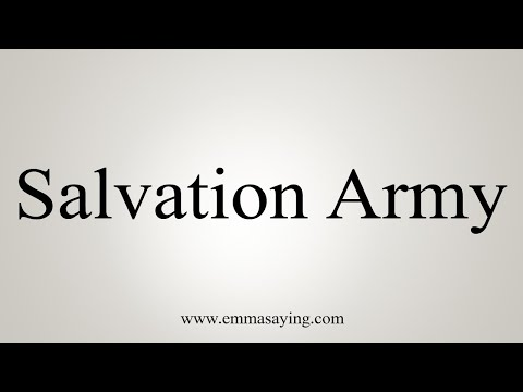 How To Pronounce Salvation Army