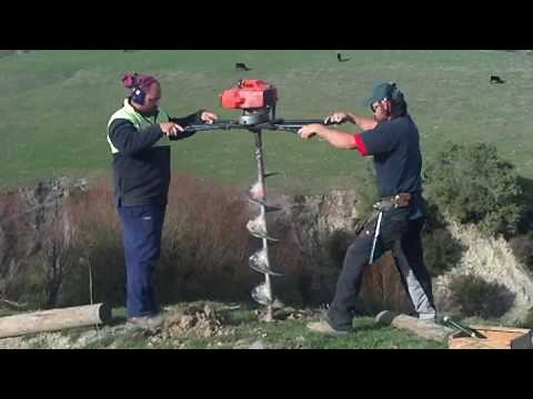 Home Made Two Man Post Hole Borer Youtube