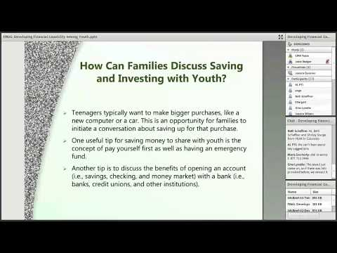 Developing Financial Capability Among Youth, June 13 2017