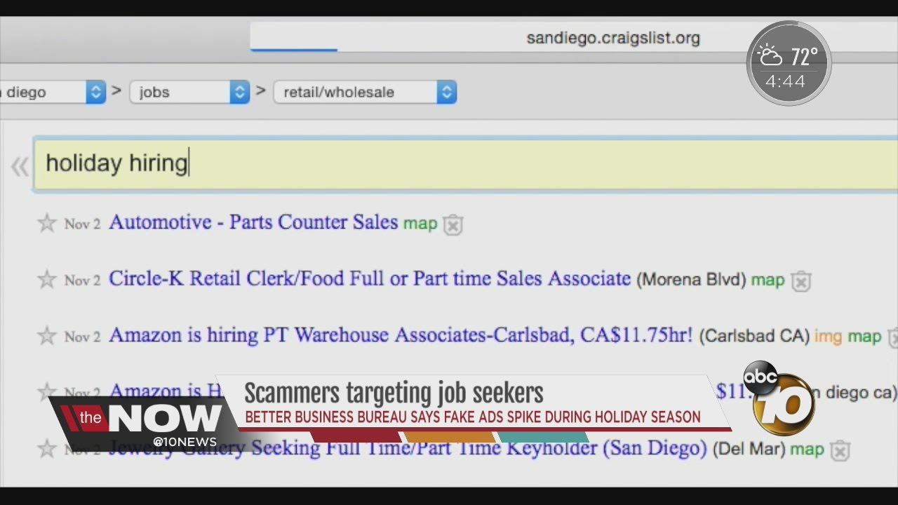 Scammers targeting holiday job seekers