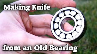 Making a Knife from an Old Bearing and Epoxy