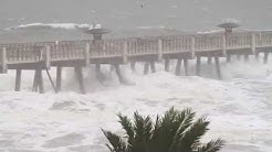Hurricane Matthew Pummels Jacksonville Beach Pier