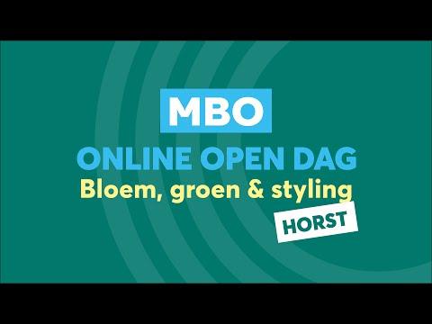 Horst MBO Bloem, groen en styling Online Open Dag
