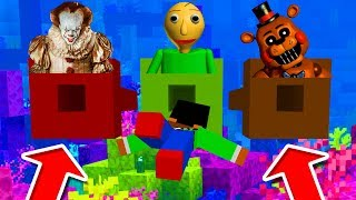 Minecraft PE : DO NOT CHOOSE THE WRONG TUNNEL!  (Pennywise, Baldi's Basics & FNAF)
