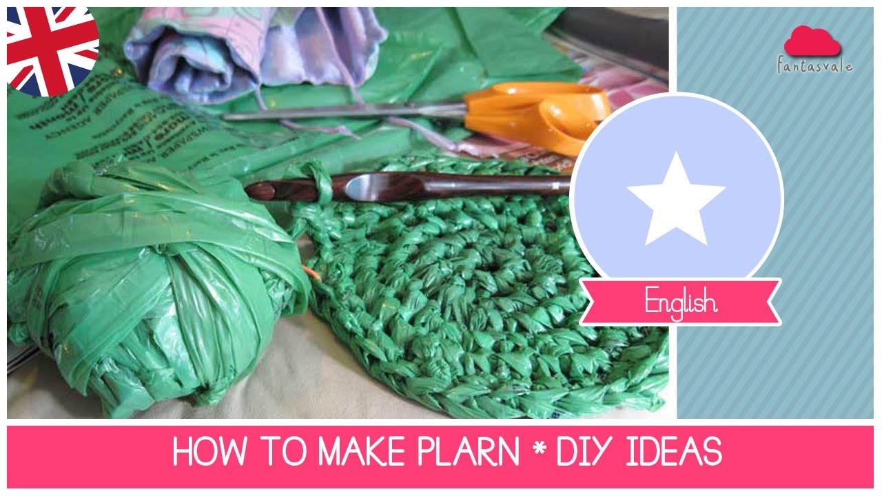 Tutorial How To Recycle Plastic Bags Making Plarn Yarn Diy Recycling Ideas You