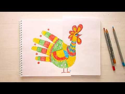 1 клас. Мистецтво. Малюємо з долоньки фантастичного птаха
