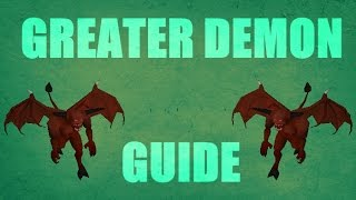 Greater Demon Slayer Guide 2007 Locations / Loots Oldschool Runescape 2007 ( OSRS )