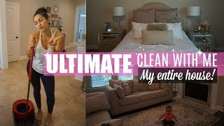 ULTIMATE CLEAN WITH ME 2018 // CLEANING MY ENTIRE HOUSE //XOJULIANA