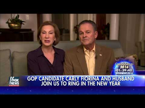 Carly Fiorina, husband ring in election year 2016