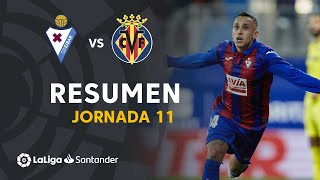Resumen de SD Eibar vs Villarreal CF (2-1)