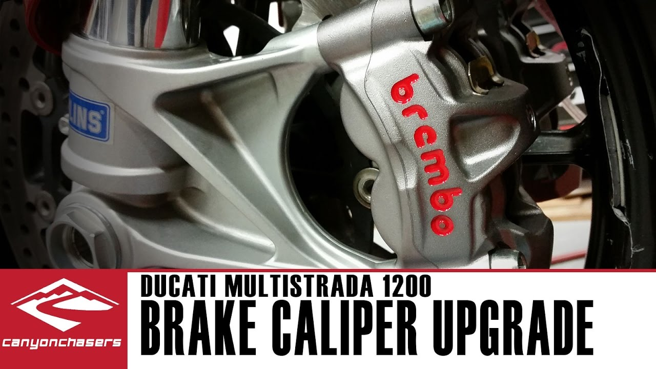 Brembo Brake Pads >> How to install upgraded Brembo M50 brake calipers on a Ducati Multistrada 1200 - YouTube