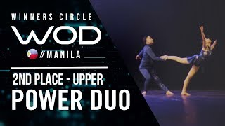 Power Duo | 2nd Place Upper | Winners Circle | World of Dance Manila Qualifier 2018