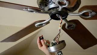 Replace a 3-way 4 wire ceiling fan switch
