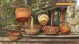 Как сплести пасхальную корзину из лозы  Секреты из Прикарпатья
