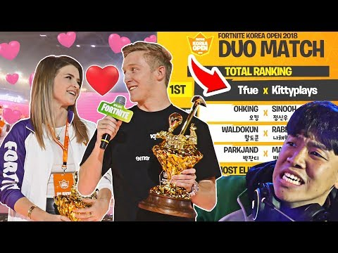 Tfue and KittyPlays WIN $1,000,000 South Korea DUOS Tournament! - Fortnite FUNNY Moments