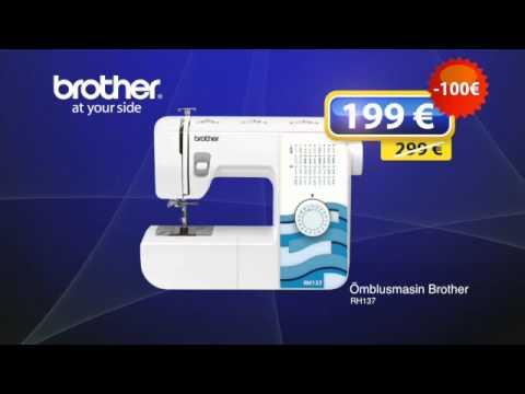 61b27e3ee64 Õmblusmasin Brother RH137 - YouTube