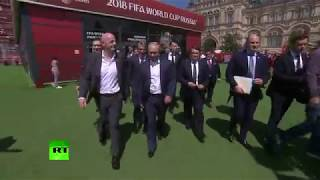Путин и Инфантино посетили Парк футбола на Красной площади