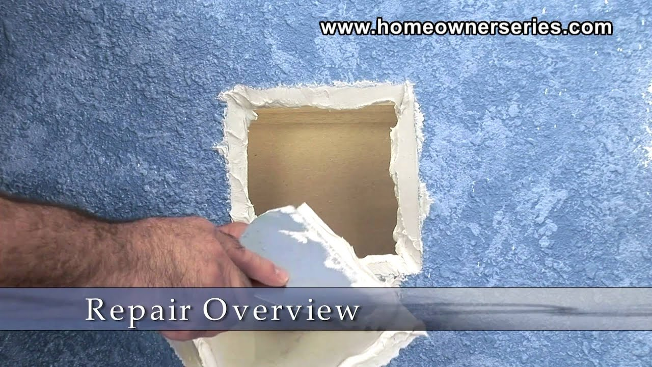 how to fix chipped drywall