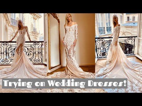 Try on Wedding Dresses with Me! | Devon Windsor