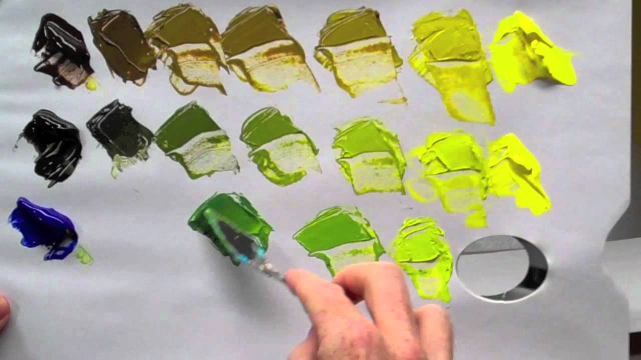 How To Mix Green Acrylic Paint Youtube