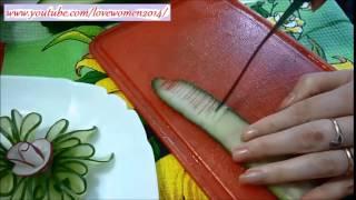 Украшения стола и блюд из фруктов и овощей. Украшения из огурца. Рецепты онлайн.