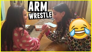 my sister beat me in an arm wrestle