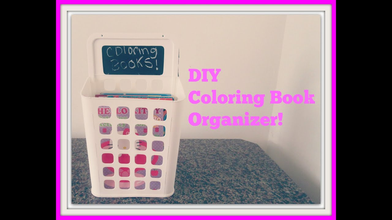 diy coloring book organizer youtube - Diy Coloring Book