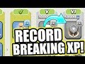NEW RECORD BREAKING XP AMOUNT! - Clash Of Clans