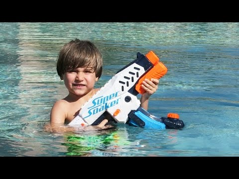 Hotel Pool Fun with Nerf X-Treme Super Soaker Switch Shot