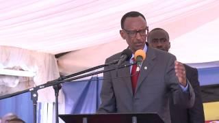 Kagame speaks swahili in Dar es salaam.