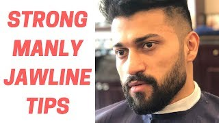 STRONGER JAWLINE HINDI - Hair & Beard Styling Tips (face fat kam dikhega)