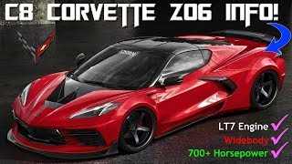 The C8 Mid Engine Corvette Z06 Information has LEAKED. Additional ZR1 and Zora info as well.