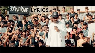 Emiway - #NoRape LYRICS / Lyric Video (Justice for Asifa and Every Victim)